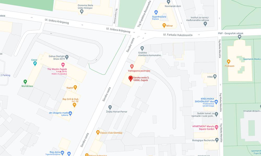 Map, Savska 3, Zagreb